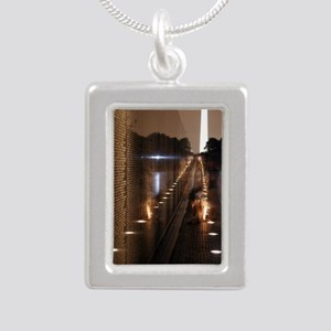 Vietnam Veterans Memoria Silver Portrait Necklace